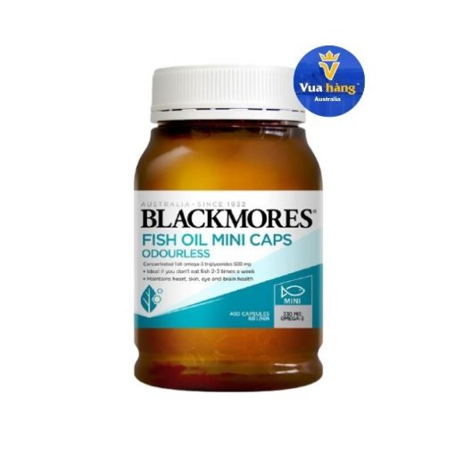 Dầu Cá Blackmores Odourless Fish Oil Mini Caps 400 viên