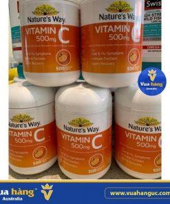 Viên ngậm vitamin c nature's way úc