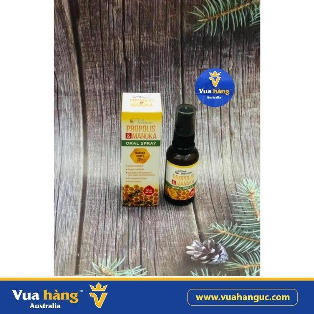 Xịt Keo Ong Ultra Nature Propolis & Manuka Oral Spray 30ml